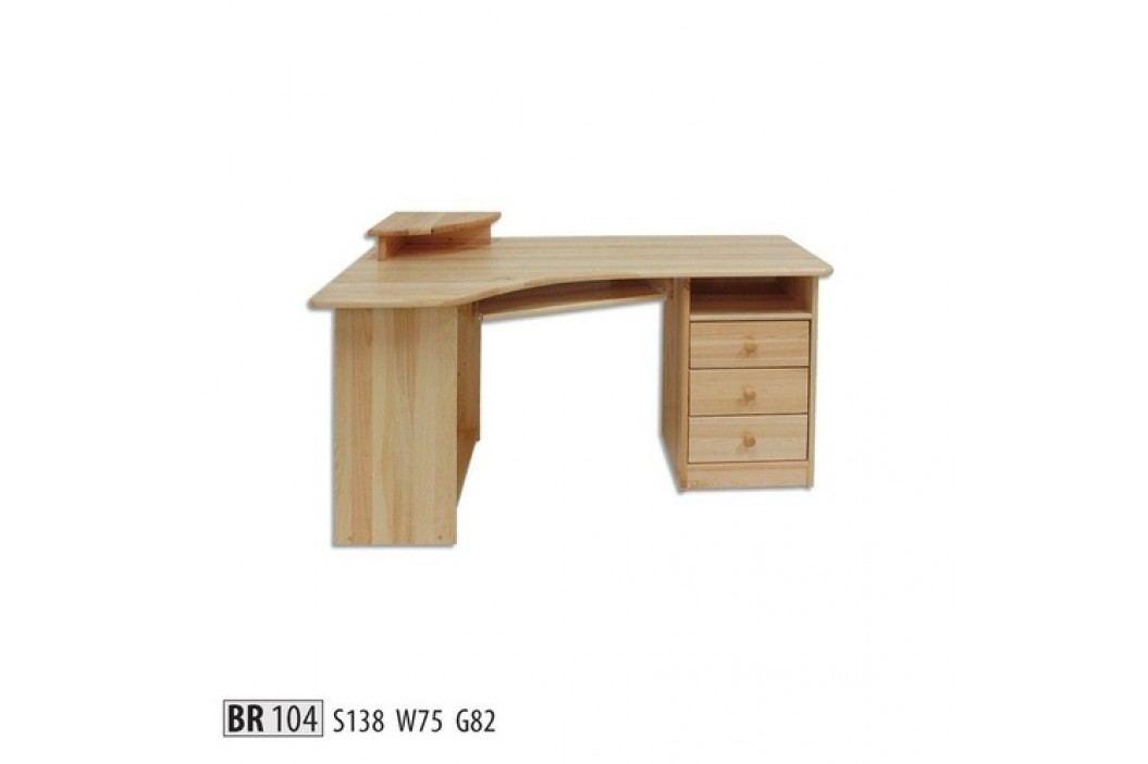 Psací stůl BR104 masiv borovice