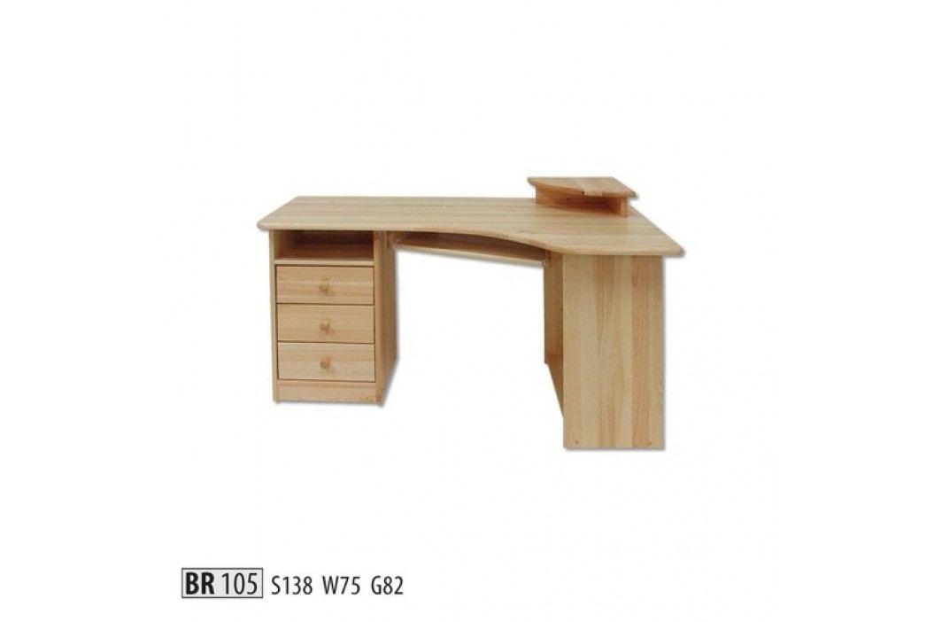 Psací stůl BR105 masiv borovice