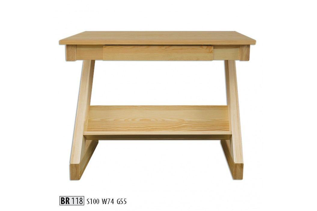 Psací stůl BR118 masiv borovice