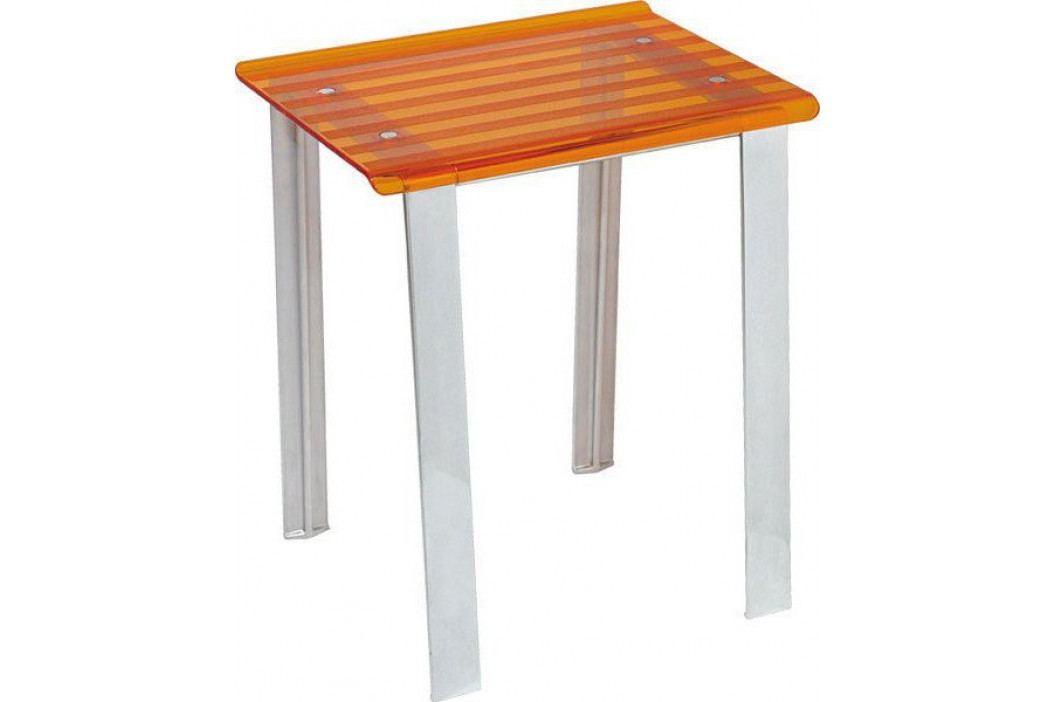 LEO koupelnová stolička 40x30x46cm, oranžová ( 5370A )