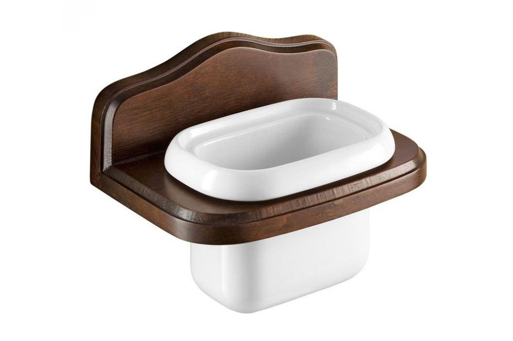 MONTANA držák na kartáčky keramika/dřevo ( 8110 )