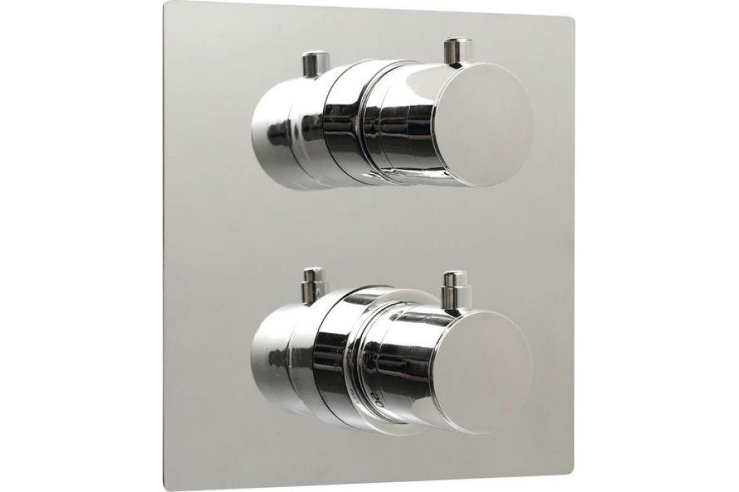 RHAPSODY podomítková sprchová termostatická baterie, 2 výstupy, chrom ( 55052 )