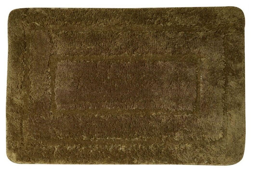Koupelnová předložka, 50x80 cm, 100% acryl, protiskluz, tmavě hnědá ( KP04H )