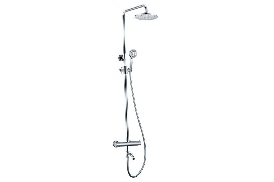 KIMURA sprchový/vanový sloup s termostatickou baterií, otočný výtok, chrom ( KU500 )