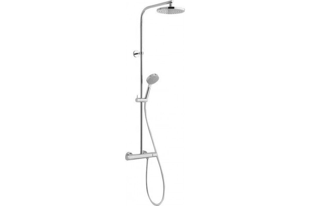 GLAM sprchový sloup s termostatickou baterií, chrom ( GL62RP2151 )
