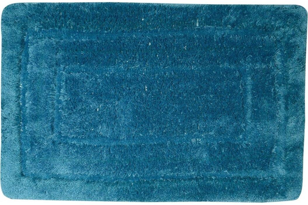 Koupelnová předložka, 50x80 cm, 100% acryl, protiskluz, tmavě tyrkysová ( KP05M )