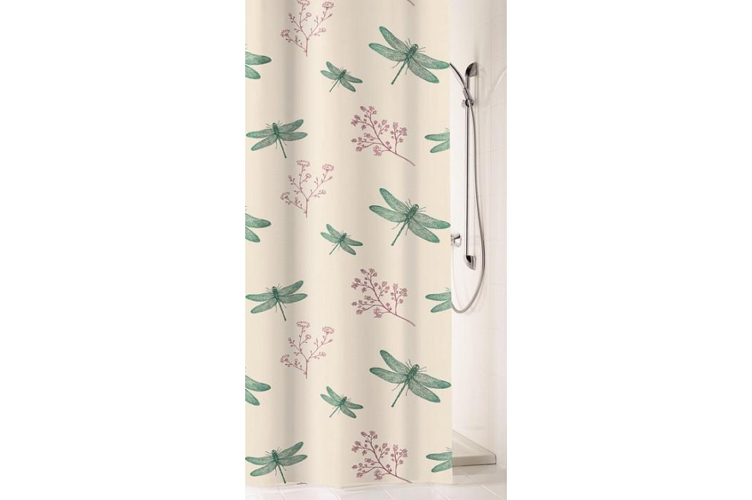SCARLETT sprchový závěs 180x200cm, polyester vážky (5915683305)