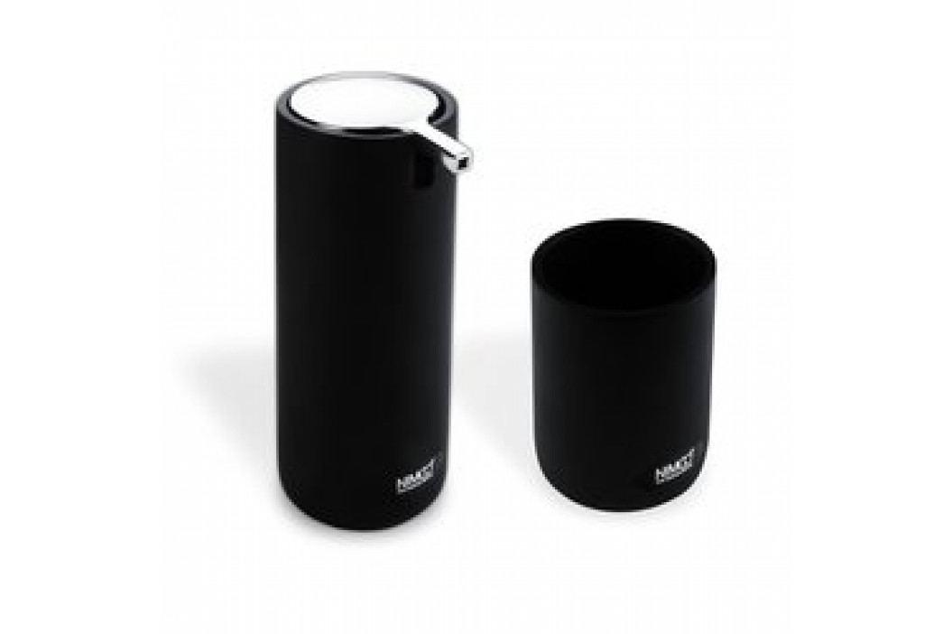 OMI set dávkovač na tekuté mýdlo s kelímkem, černý (OM 1605831-90)