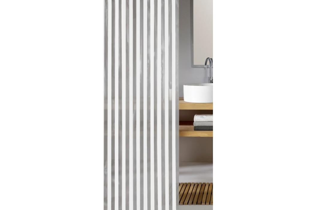 NOA sprchový závěs 180x200cm, PVC bílé pruhy (5193100305)