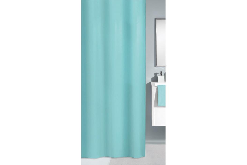 KITO sprchový závěs 180x200cm, polyester světle modrý (4937607305)