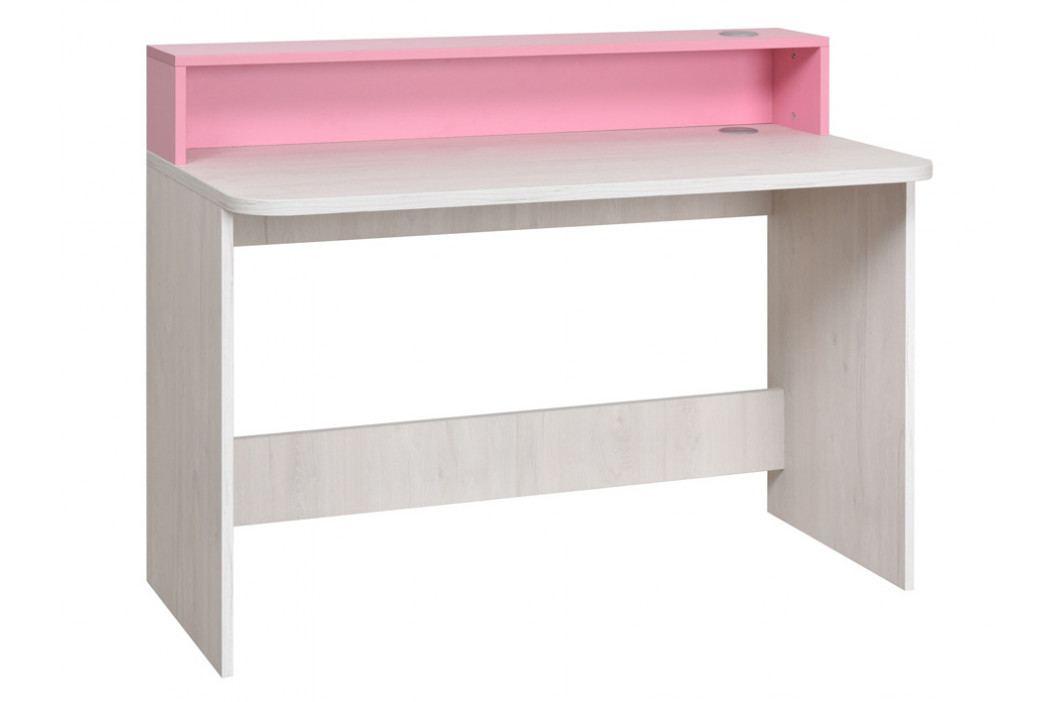 NUMERO PC STOLEK, dub bílý / růžová