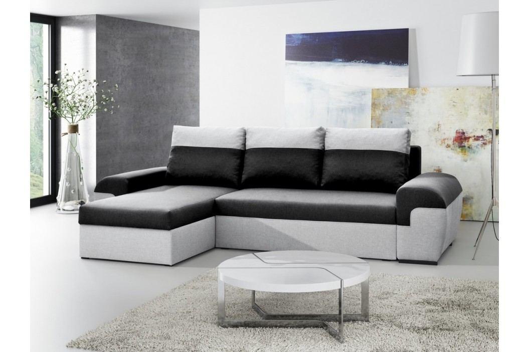 SmartShop Rohová sedačka MORY KORNER, černá/šedá
