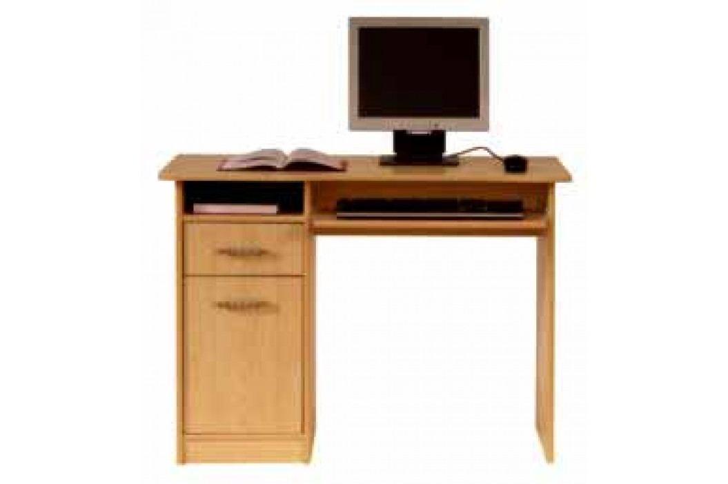 PC stůl se skříňkou TIP TOP, olše medová DOPRODEJ