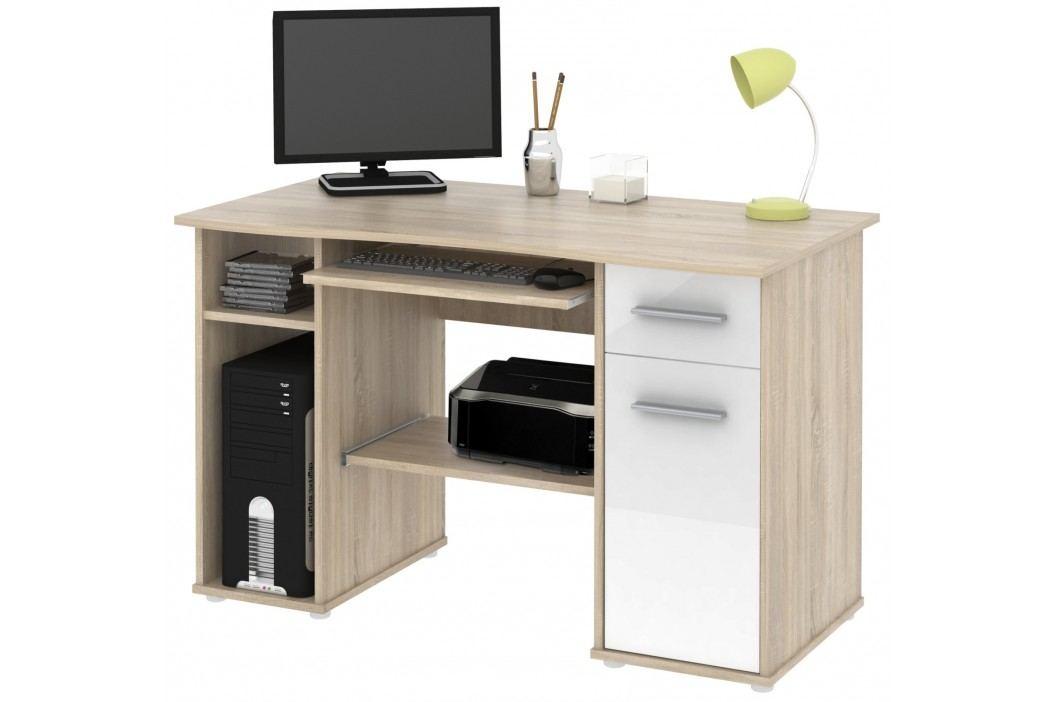 PC stůl SAMUEL sonoma sv./bílá HGS MB Samuel-sonoma sv-/bílá HGS