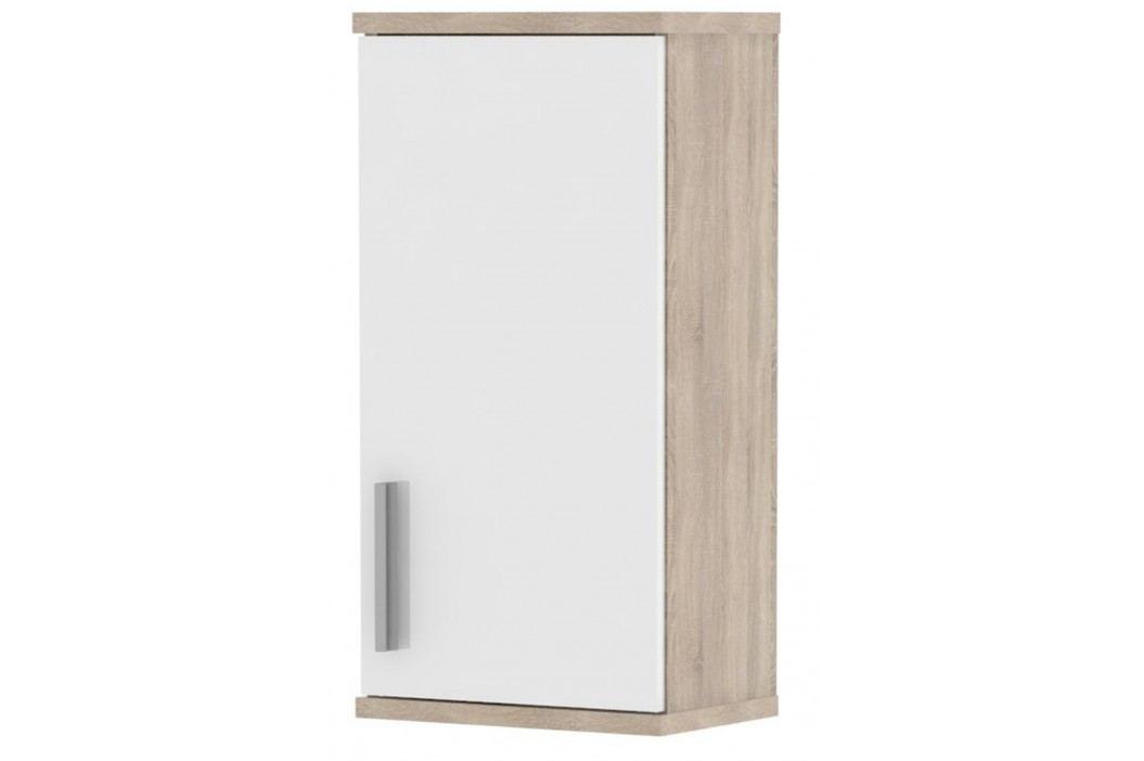 LINDA, skříňka horní LI04, dub sonoma/bílý lesk
