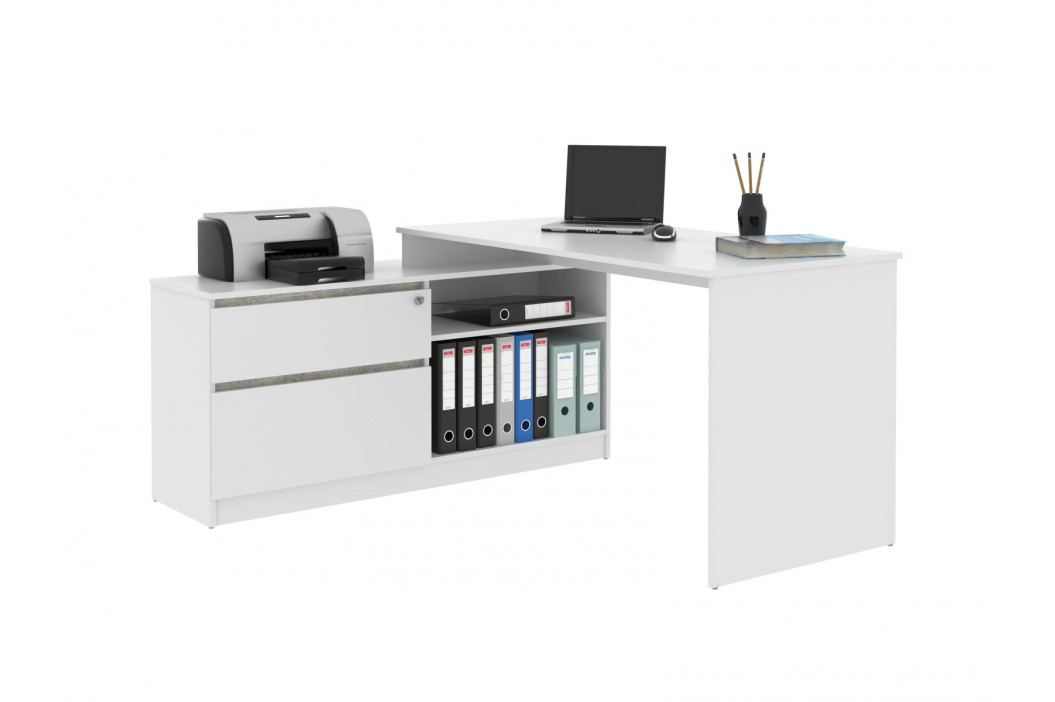 MB Domus Monoblok stolový GP01, bílá/beton, (šxvxh): 156,9x74,4x138 cm