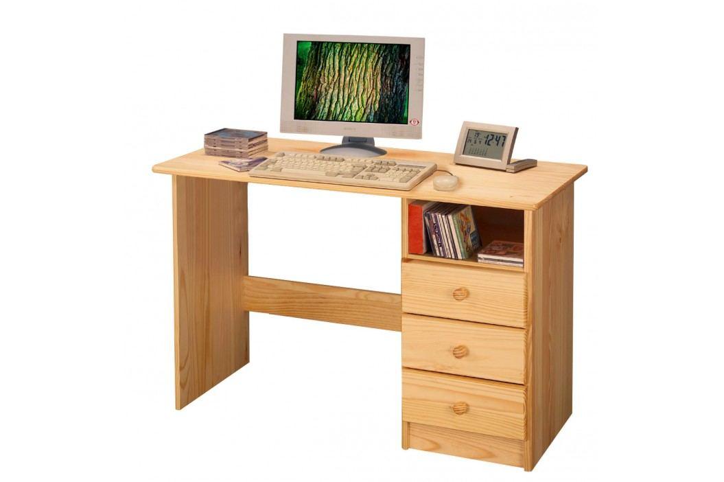 Dřevěný psací stůl P8844-I, masiv borovice