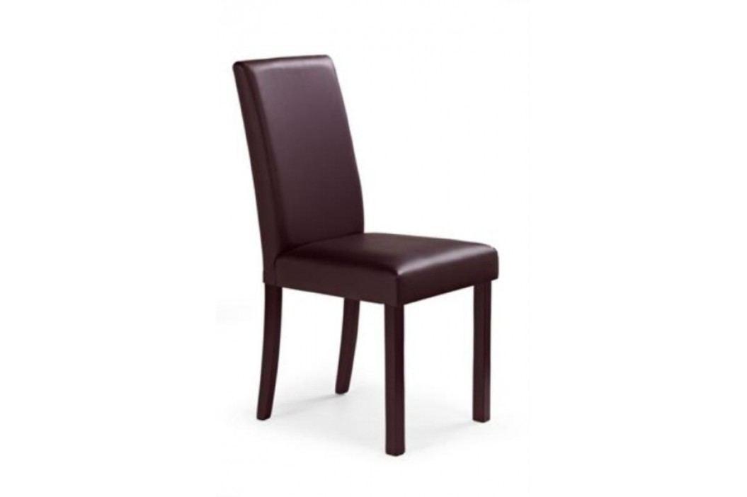 Jídelní židle NIKKO, ořech tmavý/tmavě hnědá