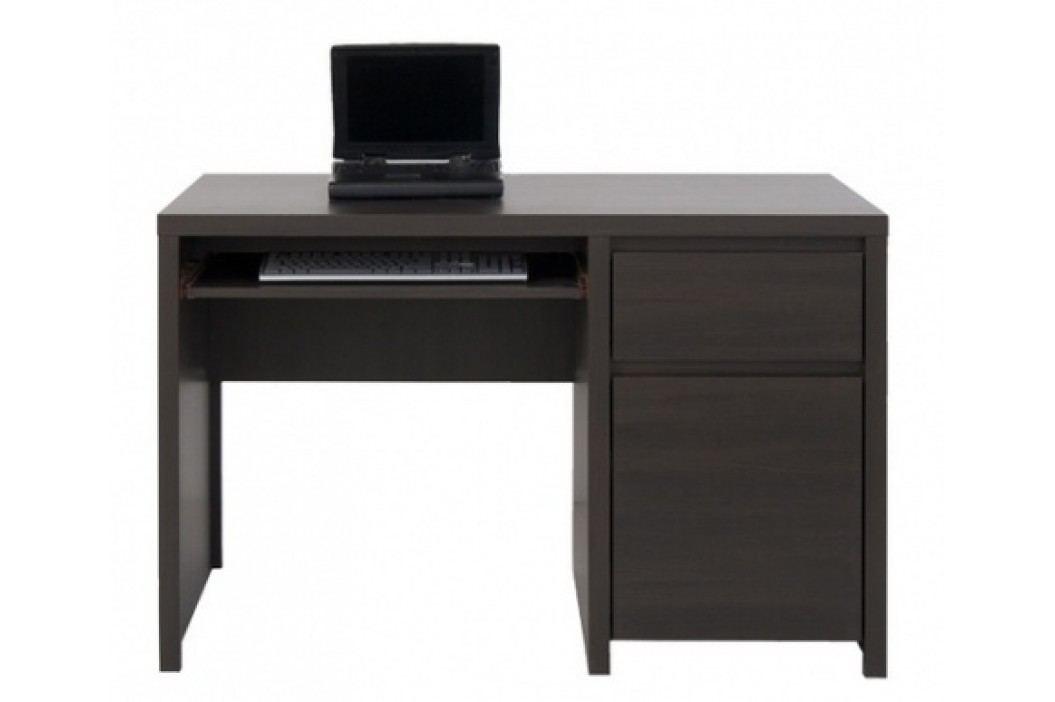 Black Red White Elegantní KASPIAN PC stůl,  BIU1D1S/120, wenge