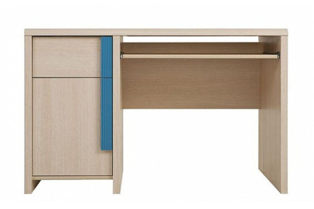 Dětský PC stůl CAPS BIU/120, dub sv. belluno/modrá