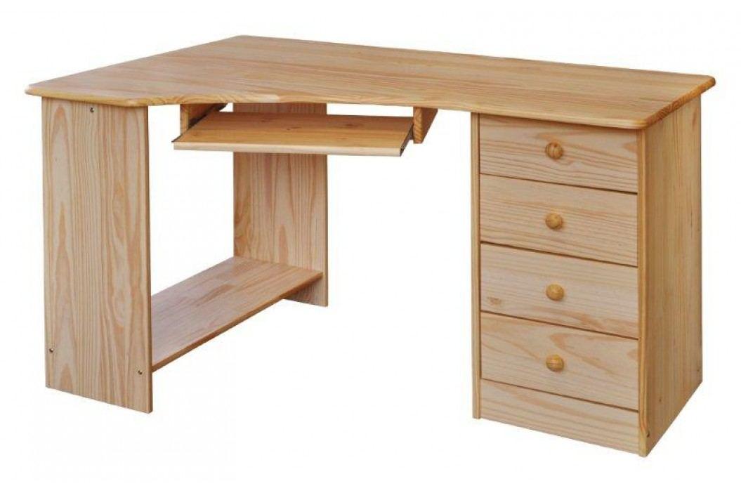 Rohový PC stůl 8846, borovice