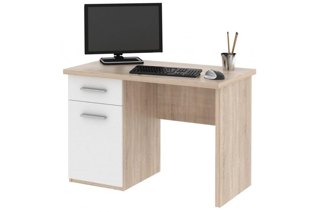 MB Domus Psací stůl OLAF, dub sonoma/bílá