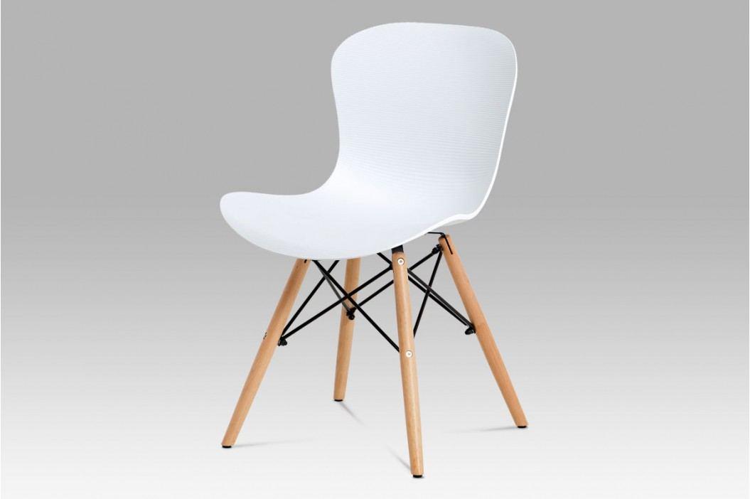 Jídelní židle AUGUSTA WT, bílý plast / natural obrázek inspirace