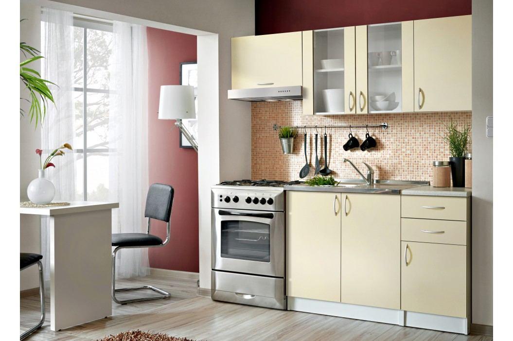 Smartshop Kuchyně JOLANA II 120/180 cm, vanilka