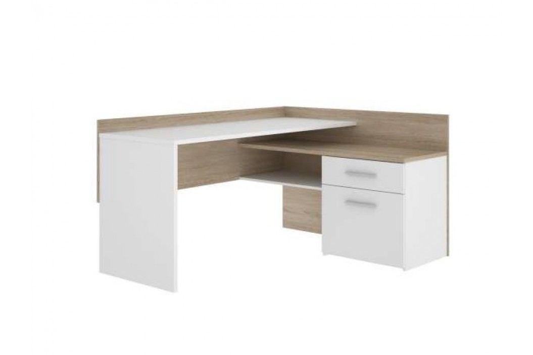 Forte Psací stůl MT939, dub sonoma/bílá