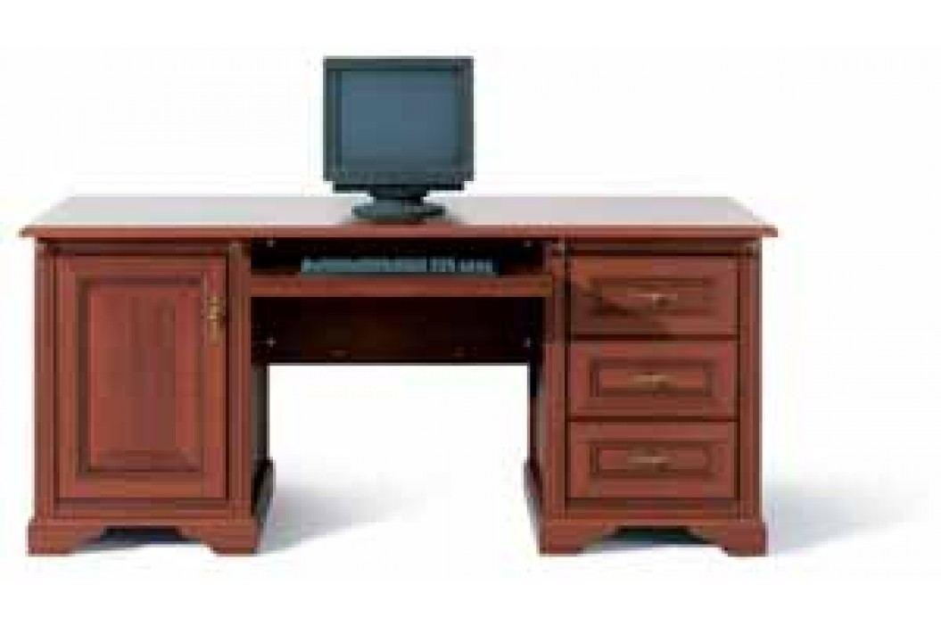 Black Red White PC stůl se skříňkou a šuplíky STYLIUS, NBIU 170, třešeň