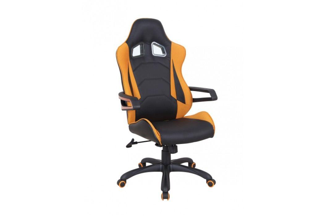 Halmar Kancelářské křeslo MUSTANG, černá/oranžová