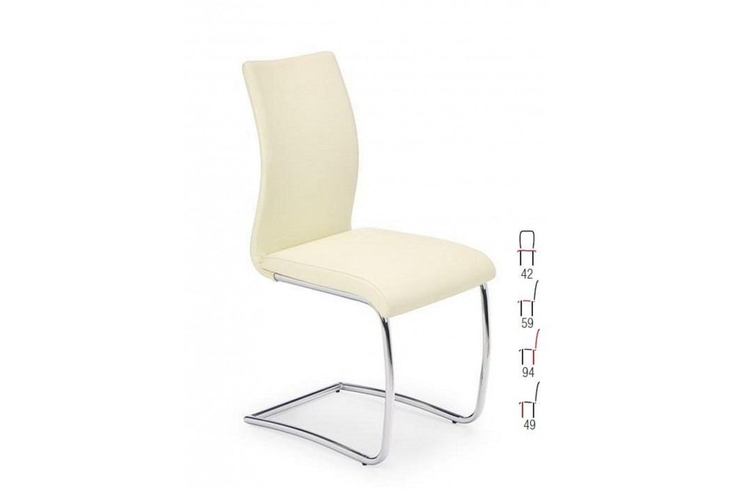 Židle K180, tmavě krémová