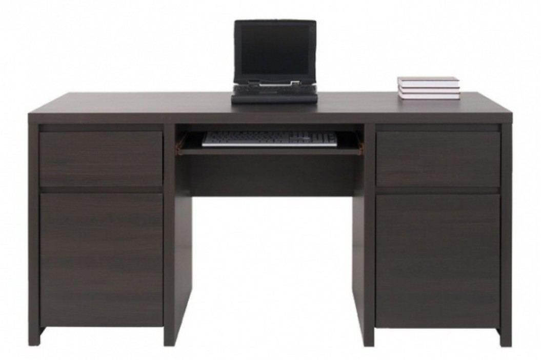 Black Red White Elegantní PC stůl KASPIAN, BIU2D2S/160, wenge