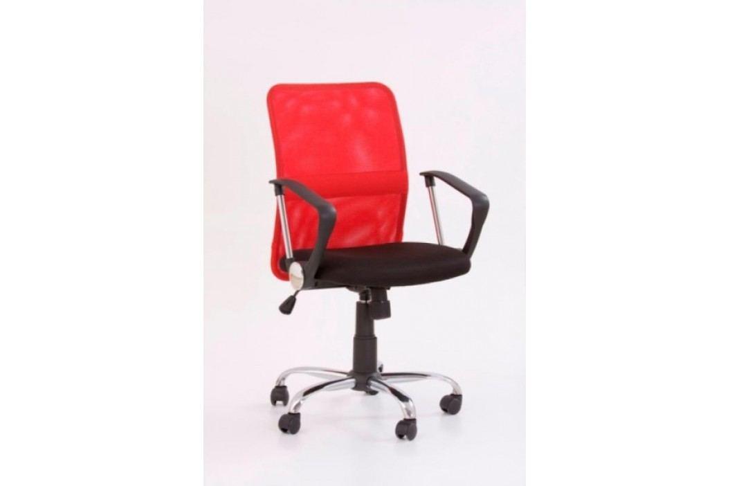 Kancelářské křeslo TONY, černá/červená