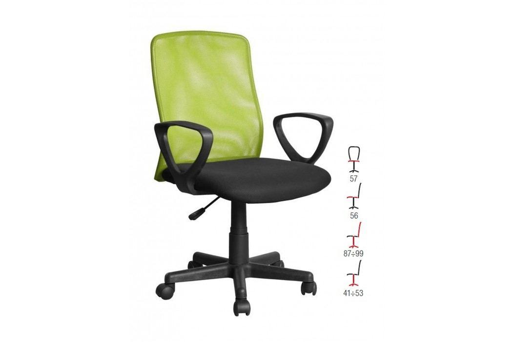 Halmar Kancelářské křeslo ALEX, černo-zelená