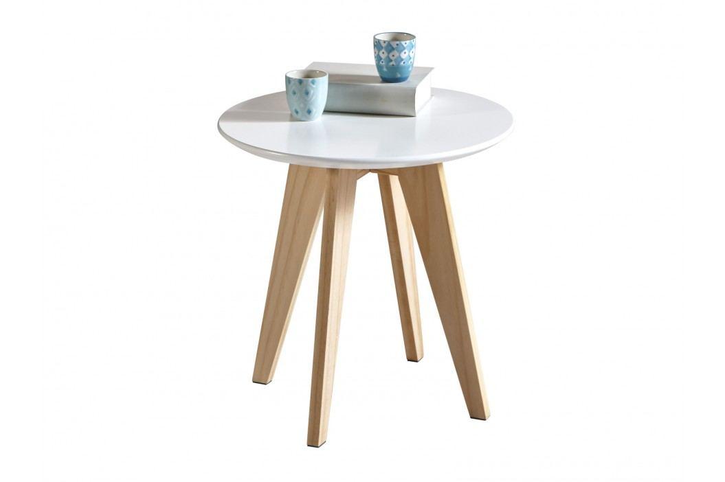 RANDO, stolek, borovice/bílá