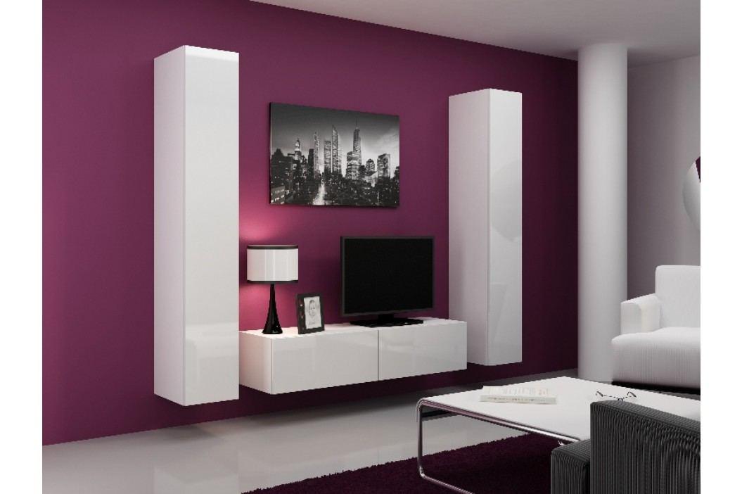 Obývací stěna VIGO 9, bílá/bílý lesk