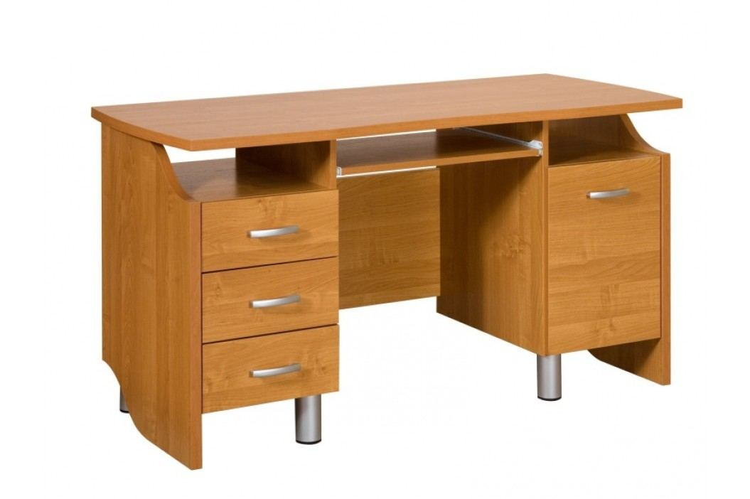 MORAVIA FLAT PC stůl se šuplíky COMBI, barva: