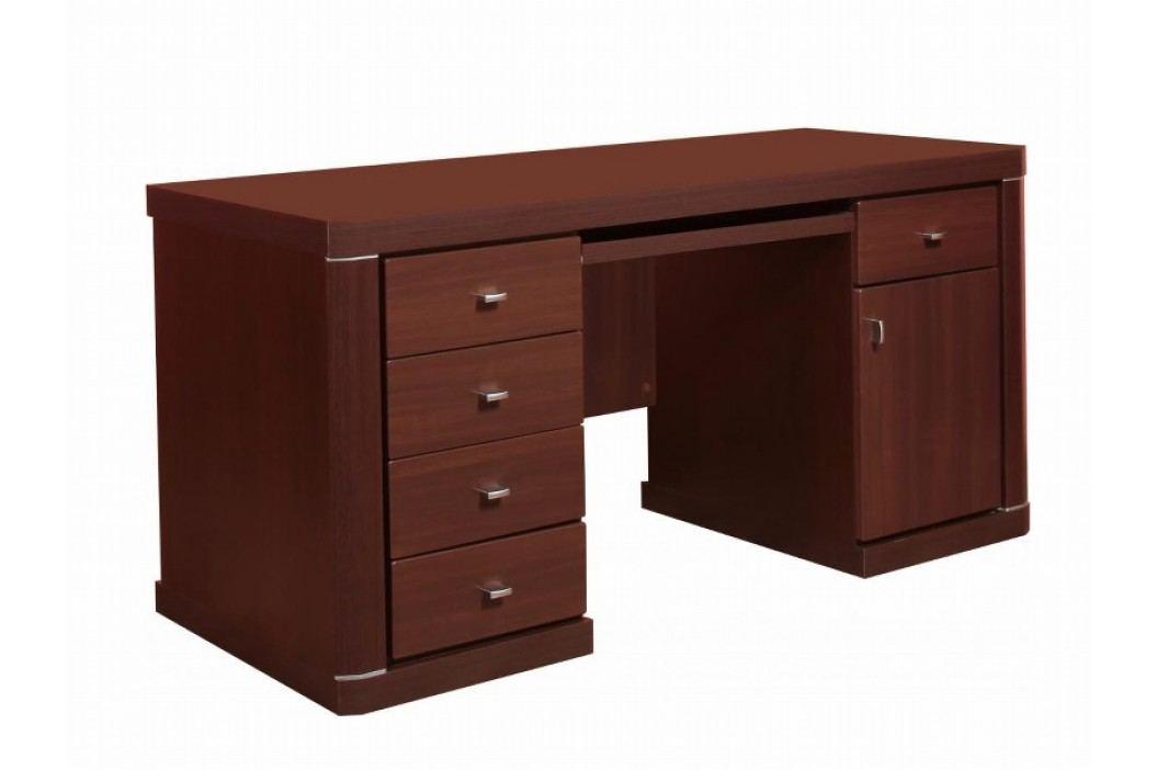 Extom  PC stůl se zásuvkami a skříňkou VENTI/80, wenge amario