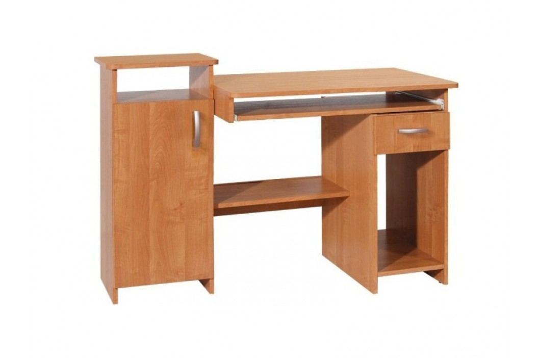MORAVIA FLAT PLUS PC stůl se zásuvkou a skříňkou, barva: