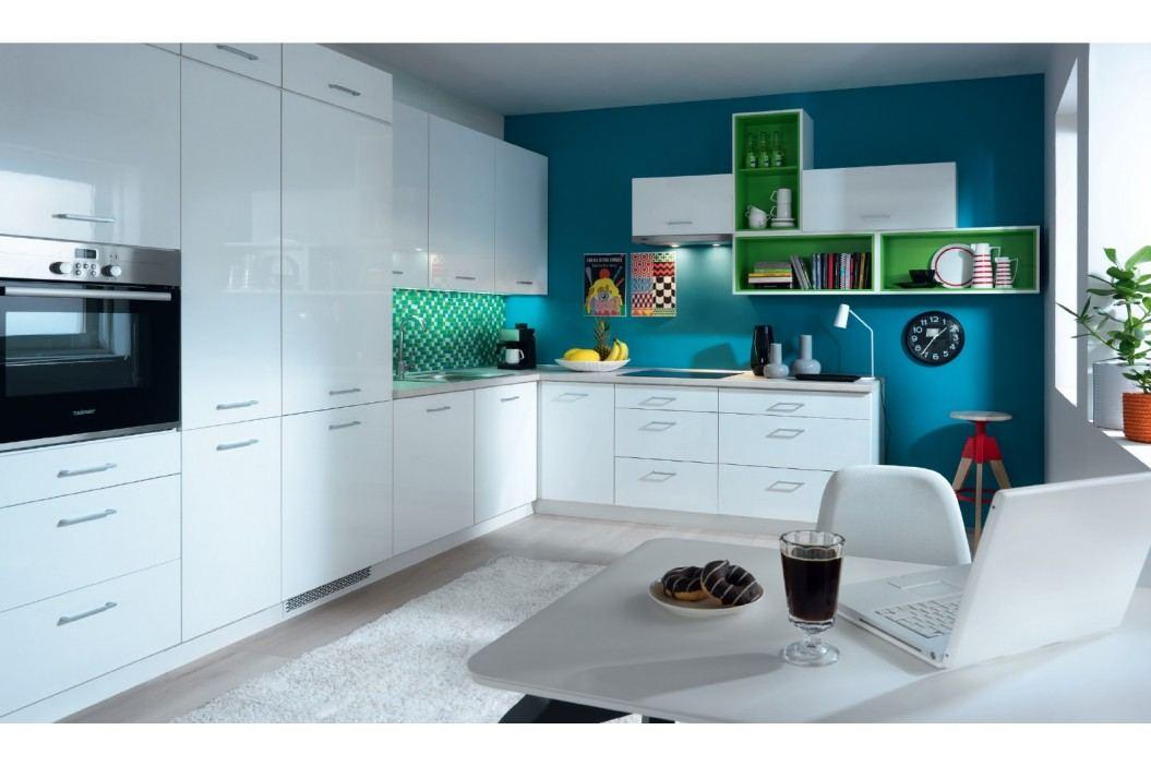 Smartshop Rohová kuchyně TAPO PLUS, VZOROVÁ SESTAVA 2, bílý lesk