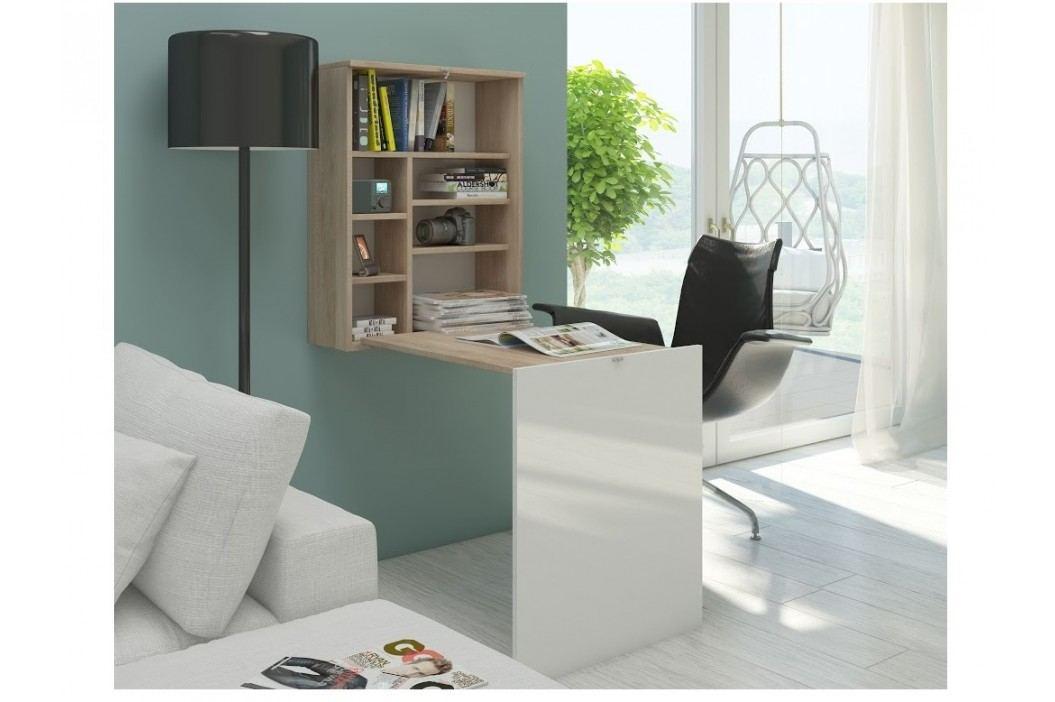 MORAVIA FLAT Psací stůl HIDE, dub sonoma/bílý lesk