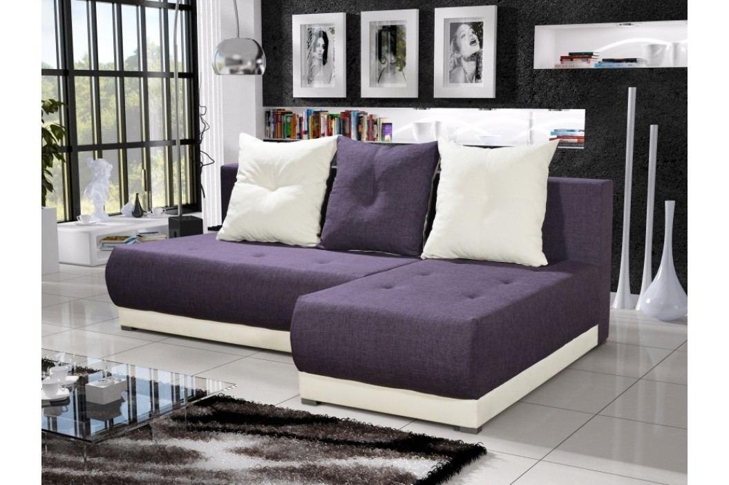 Rohová sedačka INSIGNIA 14, fialová/krémová obrázek inspirace