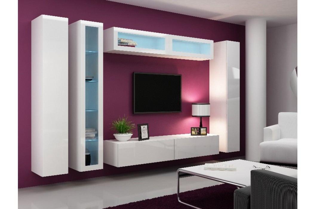 Obývací stěna VIGO 6, bílá/bílý lesk