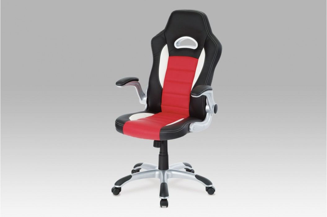 Kancelářská židle KA-N240 RED, PU černo-červená