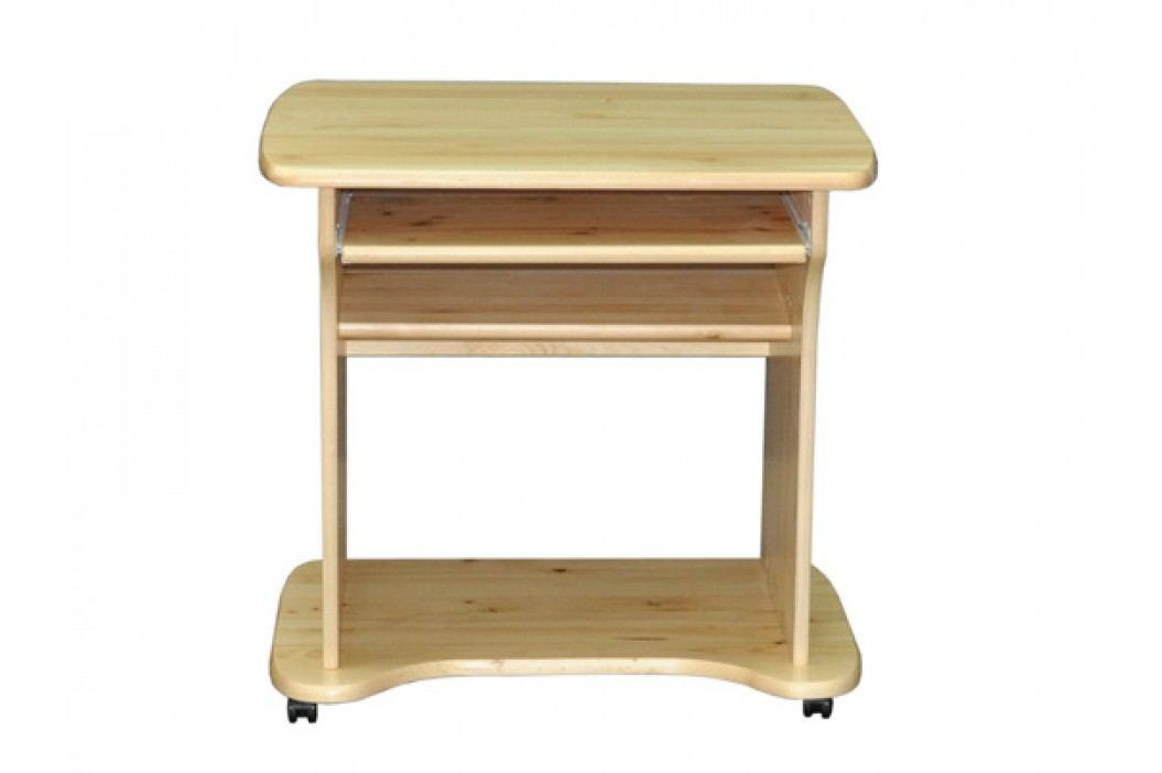 MAGNAT PC stůl na kolečkách PABLO, masiv borovice, moření: ...