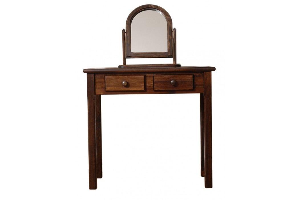 MAGNAT Toaletní stolek, masiv borovice/moření ořech