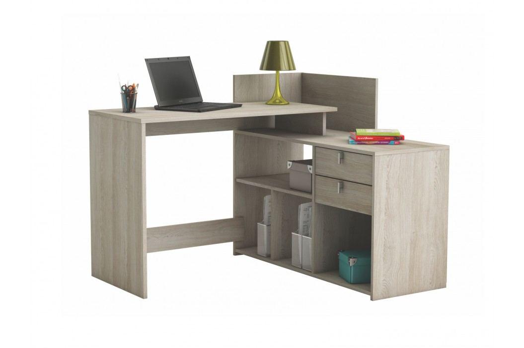 DEMEYERE VISSTA, univerzální rohový psací stůl, dub shannon