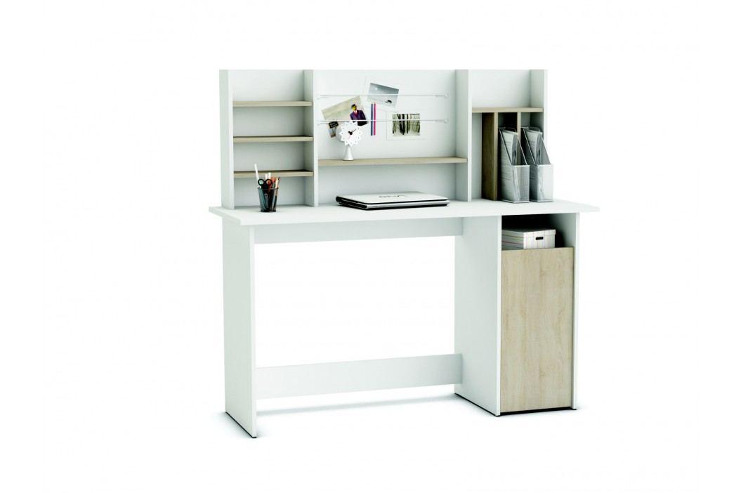 DEMEYERE AMIBRE, psací stůl, dub sonoma/bílá