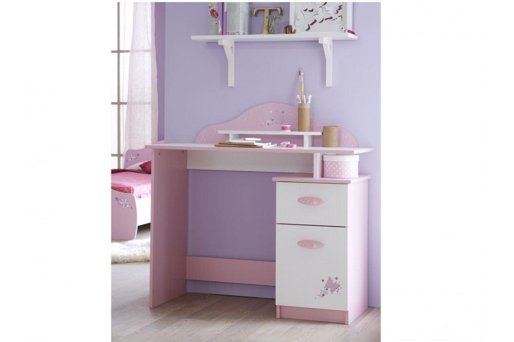 DEMEYERE Dětský psací stůl PAPILON, bílá/růžová